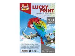 Глянцевая фотобумага Lucky Print (10*15, 230 гр/м2), 100 листов