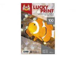 Матовая фотобумага Lucky Print для Epson Colorio EP-708A (10*15, 190г/м2), 100 листов