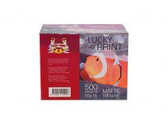 Матовая фотобумага Lucky Print (10*15, 190г/м2), 500 листов