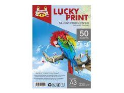Глянцевая фотобумага Lucky Print (А3, 230 гр.), 50 листов