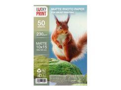 Матовая фотобумага Lucky Print (10x15, 230г/м2), 50 листов