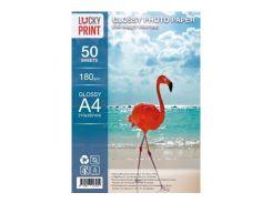 Глянцевая фотобумага Lucky Print для Epson Colorio EP-708A (A4, 180г/м2), 50 листов