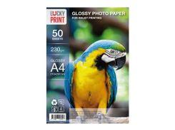 Глянцевая фотобумага Lucky Print для Epson Expression Home XP-235 (А4, 230 гр.), 50 листов