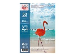 Глянцевая фотобумага Lucky Print для Epson L655 (A4, 180г/м2), 50 листов