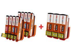 Совместимые картриджи для Epson XP-830 (C / M / Y / PBK  x2 + BK x 3) T410XL