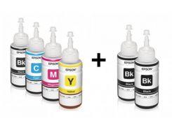 Комплект оригинальных чернил для Epson L555 (6*70 ml)
