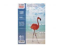 Глянцевая фотобумага Lucky Print (10*15, 180г/м2),100 листов