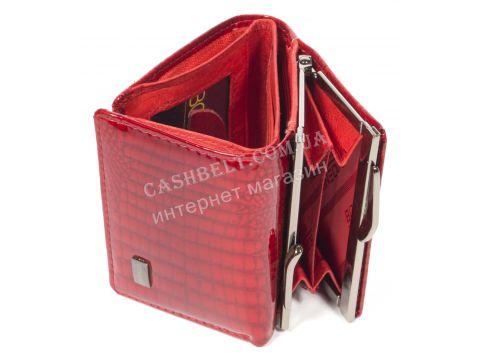Маленький лаковый женский кожаный кошелек высокого качества BODENSCHATZ art. 2186T-44 красный Винница