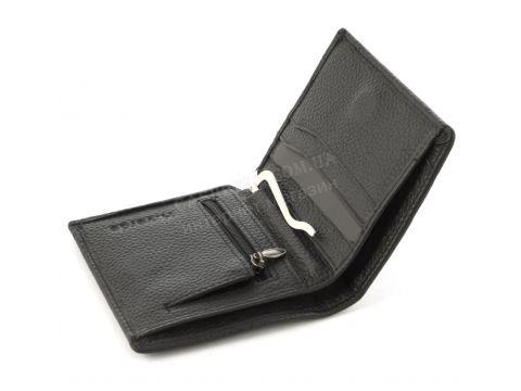 Удобный мужской кошелек с зажимом для купюр из натуральной качественной кожи H.Verde art. 072черный Винница