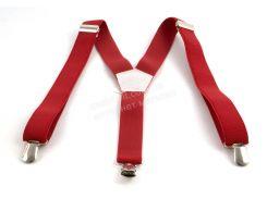 Подростковые подтяжки-резинка красного цвет (100391)