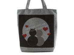 Легкая льняная пляжная женская сумка Б/Н art. Б/Н (100406)