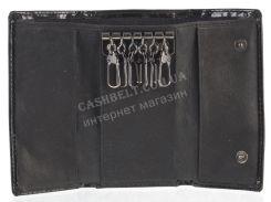 Стильная прочная лаковая надежная кожаная ключница BODENSCHATZ art. 2232TA85 черный