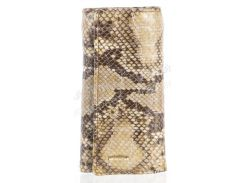 Стильная прочная лаковая надежная кожаная ключница HELEN VERDE art. 2232B-E51 рептилия лак
