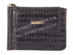 Прочный кошелек с зажимом для денег из натуральной качественной кожи  SALFEITE art. 2329SL-D71 черный