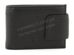 Удобный мужской кошелек с зажимом для купюр из натуральной качественной кожиPRENSITI art. 4483 черный