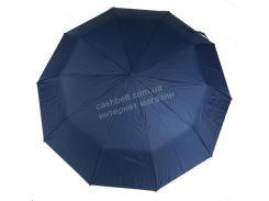 Женский красивый прочный зонтик полуавтомат одноцветный с проявкой BELLISSIMO art. 461 синий (101680)
