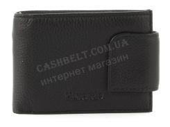 Удобный мужской кошелек с зажимом для купюр из натуральной качественной кожи H.Verde art. 4483 черный