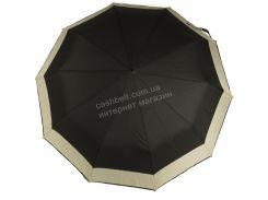 Женский красивый прочный зонтик полуавтомат двухцветный S.L. art. 486 черный (101719)