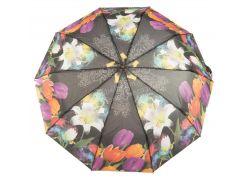 Женский прочный зонтик полуавтомат цветочный принт S.L. art. 3006  (102413)