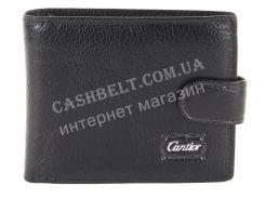 Удобный мужской кошелек с зажимом CANTLOR art.793D-K black