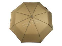 Женский прочный зонтик полуавтомат с одноцветном куполе S.L. art. 3520 коричневый (102491)