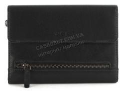 Мужская стильная прочная барсетка бумажникс натуральной высококачественнойкожи HASSION art. H-092Bчерный