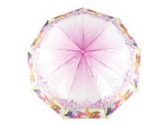 Женский симпатичный прочный зонтик полуавтомат LANTANA art. LAN721 красивые цветы (101179)