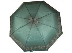 Женский симпатичный прочный зонтик полуавтомат FEELING RAIN art. 302A зеленый(101157)