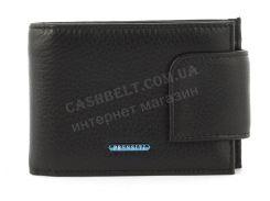 Удобный мужской кошелек с зажимом для купюр из натуральной качественной кожиPRENSITI art. 4483 черный (син ло