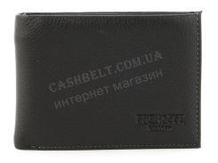 Удобный мужской кошелек с зажимом для купюр из натуральной качественной кожи PRENSITI art. 071черный