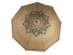 Женский красивый прочный зонтик полуавтомат с узорами MARIO UMBRELLAS art. 5511 золотисный (101650)