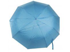Женский красивый прочный зонтик полуавтомат одноцветный Susino art. 3373 голубой (102405)