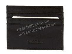Кожаный компактный картхолдер для документом и карточек HASSION art. LF77 черный