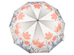 Женский прочный зонтик полуавтомат цветочный принт S.L. art. 3006  (102445)