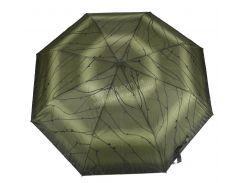 Женский симпатичный прочный зонтик полуавтомат FEELING RAIN art. 302A зеленый (100256)