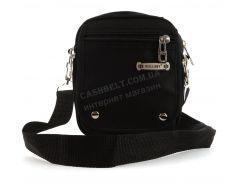 Удобная небольшая мужская сумка с плотной ткани WALLABY art. 3165 черная Украина