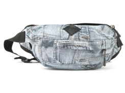 Удобная черная мужская сумка на пояс под джинс WALLABY art. 2903 (102352) Украина