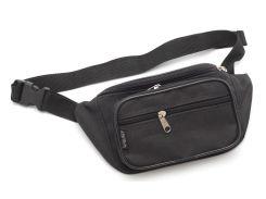 Удобная черная мужская сумка на пояс WALLABY art. 2900 Украина