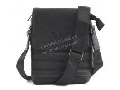 Стильная небольшая прочная мужская сумка с качественной PU кожи GA art. 919-16 черный