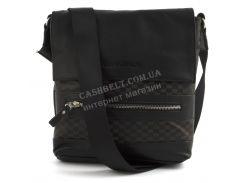 Стильная оригинальная мужская сумка почтальонка с качественной PU кожи CANTLOR art.8803 черный