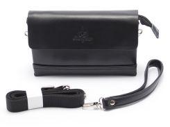 Мужская черная сумка-барсетка LANGSA art. 6681-1