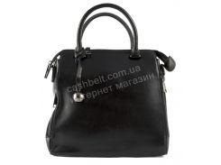 Стильная кожаная стильная женская сумка черного цвета  SOLANA art. W558 Турция