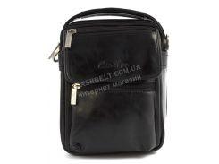 Качественная прочная мужская сумка почтальонка с качественной PU кожи CANTLOR art. 1322-160 черный