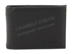 Удобный мужской кошелек с зажимом для купюр из натуральной качественной кожи H.Verde art. 070 черный