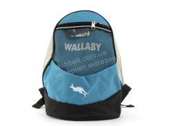 Компактный тканевый рюкзак WALLABY art. 152 Украина голубой
