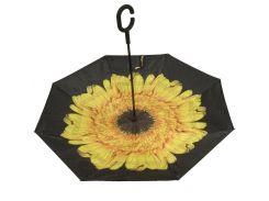 Стильный женский зонтик тростью раскрывающийся в обратную сторону SWIFTS art. FX002  (102757) желтый