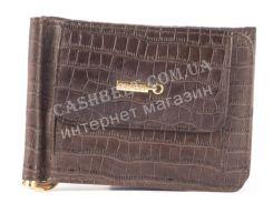 Прочный кошелек с зажимом для денег из натуральной качественной кожи  SALFEITE art. 2329SL-D72 коричневый