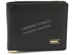 Стильный практичный кожаный мужской кошелек с зажимом для денег SALFEITE art. 8300AN-BLK черного цвета