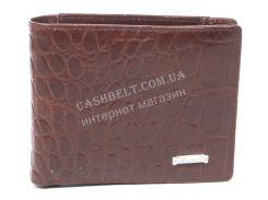 Удобный мужской кошелек с зажимом для купюр из натуральной качественной кожи  SALFEITE art. 2300AT-D24 корич