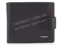 Прочный надежный стильный кожаный мужской кошелек с зажимом из мягкой надежной кожи HASSION art. LF58 черный